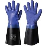 Vinyl/PVC with Granulation, Interlock Liner Fishermen's Gloves