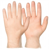 Vinyl/PVC, Powder-Free. Clear Colour Single-Use Gloves