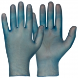 Vinyl/PVC, Powder-Free. Blue Colour Single-Use Gloves