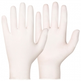 Synthetic, Powder-Free. White Colour Single-Use Gloves