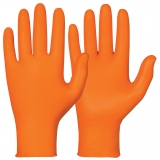 Nitrile, Powder Free, Orange Colour Single-Use Chemical Resistant Gloves Chemstar®