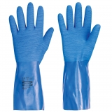 Waterproof gloves made of natural rubber with nitrile