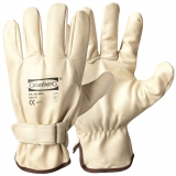 A Grade Cow Grain Leather with Velcro Closure, Unlined Assembly Gloves