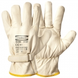 A Grade Cow Grain Leather with Velcro Closure, Winter Lined Assembly Winter Gloves