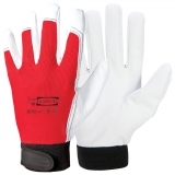 Synthetic Leather with Cotton Back and Velcro Closure, Unlined Assembly Gloves