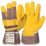 Synthetic Leather with Pasted Cuff, Palm Lined Work Gloves
