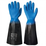 Seamless Nylon Liner Dipped in Vinyl/PVC Fishermen's Gloves