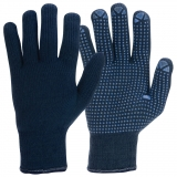 Acrylic Cotton Terry with PVC Microdots Knitted Winter Gloves
