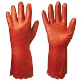 Anti-Allergic, Cotton Flock LinedVinyl/PVC Chemical Resistant Gloves