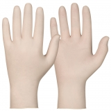 Latex, Powder-Free. Off-White Colour Single-Use Gloves