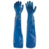 Long, Welded Nitrile Cuff Nitrile Chemical Resistant Gloves