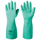Unsupported, Cotton Flock Lined, 41 cm Length Nitrile Chemical Resistant Gloves Chemstar®