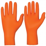 Nitrile, Powder-Free, Orange Colour, 27 cm Length Single-Use Chemical Resistant Gloves Chemstar®