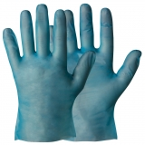 Thermo Elastic Polymer (T.E.P.), Powder-Free, Blue Colour Single-Use Gloves