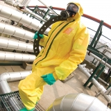 Type 3, 4, and 5, Anti-Static, Barrier to Radioactive Particulates and Infective Agents Chemical-Protective Coveralls Microchem® 3000