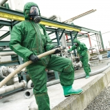 Type 3, 4, and 5, Anti-Static, Barrier to Radioactive Particulates and Infective Agents Chemical-Protective Coveralls Microchem® 4000