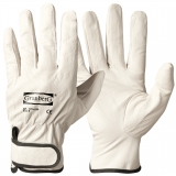 Pig Grain Leather with Velcro Closure, Unlined Assembly Gloves