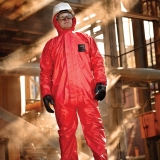 Type 3, 4, and 5, Flame Resistant, Anti-Static, and Barrier to Radioactive Particulates Flame-Retardant Protective Coveralls Microchem® CFR