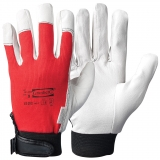 Pig Grain Leather with Cotton Back & Velcro Closure, Unlined Assembly Gloves