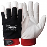 Synthetic Leather with Cotton Back and Velcro Closure, Winter Lined Assembly Winter Gloves