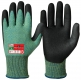 Special Vinyl/PVC Foam Coating Cut Resistant Gloves Black Diamond