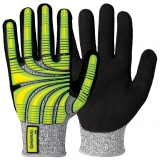Typhoon® Fibre with Nitrile Coating, Oil Resistant Cut 5 Impact Hi-Viz™ Protective Gloves
